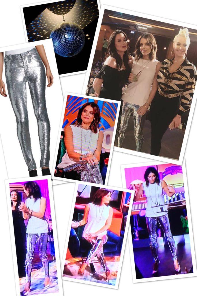 Bethenny Frankel's Silver Sequin Pants