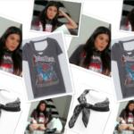 Kourtney Kardashian's Graphic Judas Priest Tee Shirt