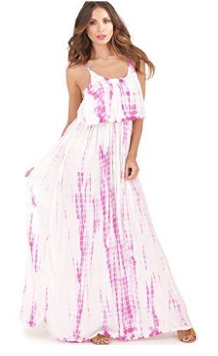 Layered Tie Dye Maxi Dress