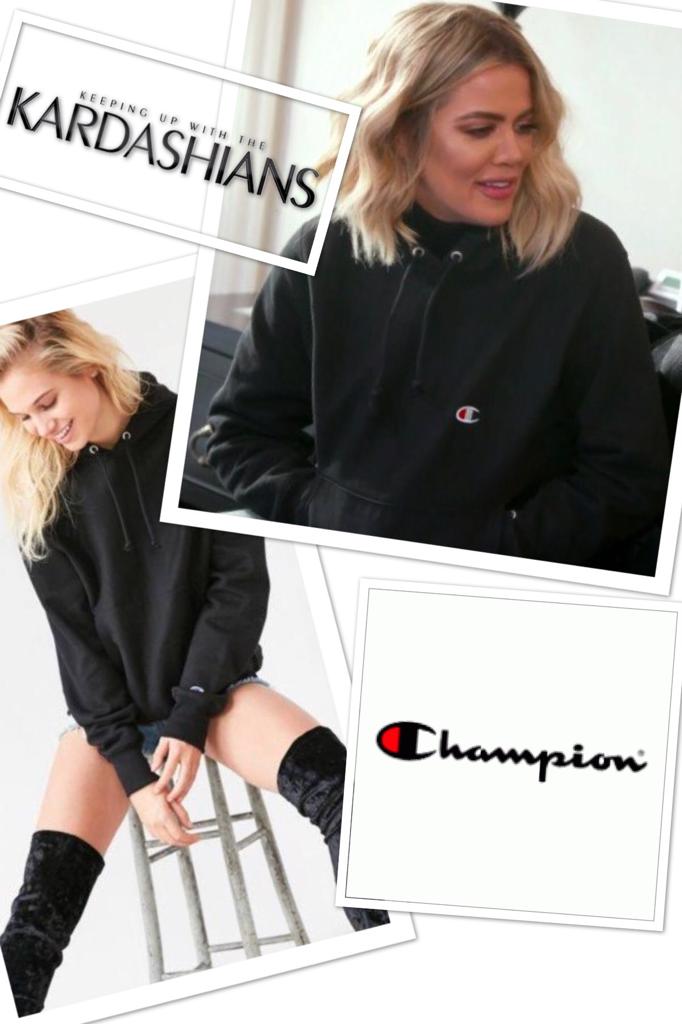 Khloe Kardashian's Black Hoodie Sweatshirt