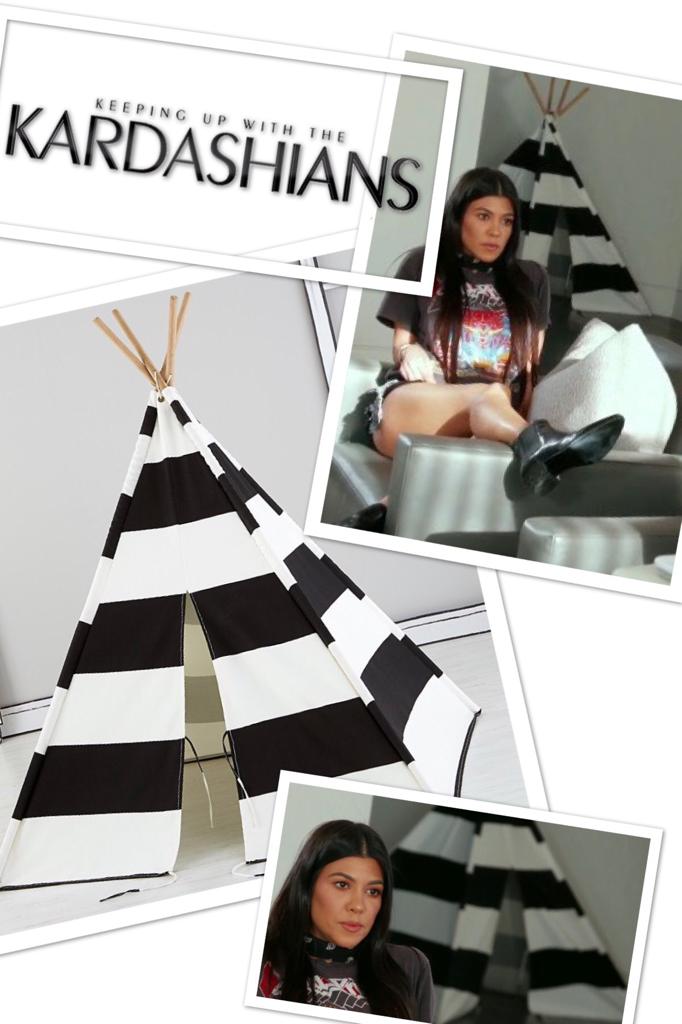 Kourtney Kardashian's Black and White Teepee