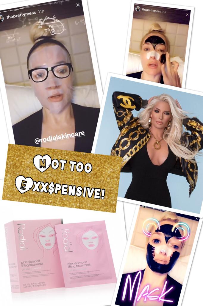 Erika Girardi's Lifting Face Mask On Instagram