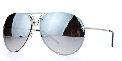 Juicy Orange Silver Mirrored Aviator Sunglasses