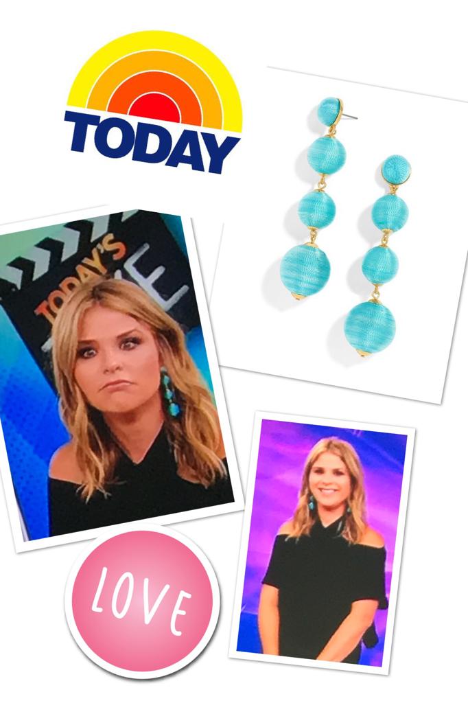 Jenna Bush Hager's Teal Ball Earrings
