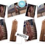 Phoebe's Tan Pleated Maxi Dress on GGTD