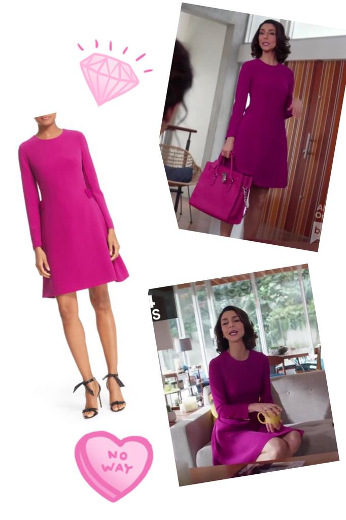 Delia Banai's Purple Long Sleeve Dress