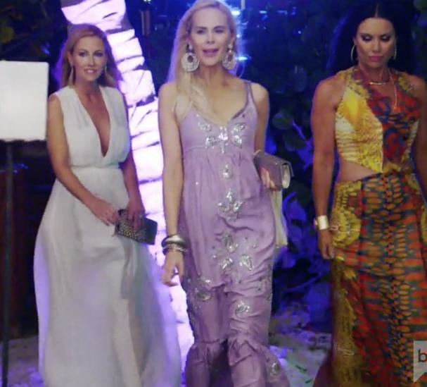 Kameron Westcott's Purple Sequin Embellished Maxi Dress in Mexico