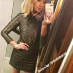 Stassi Schroeder's Gold Metallic Dress
