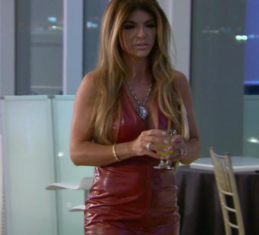 Teresa Giudice's Red Leather Dress