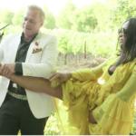 Marlo Hampton's Yellow Ruffle Tiered Dress