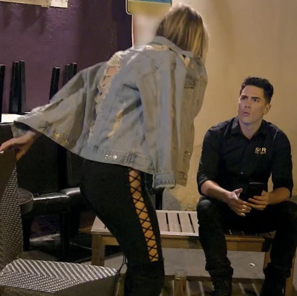 Ariana Madix's Lace Up Leggings
