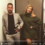 Tracy Tutor Maltas' Green Cutout Sweater Dress