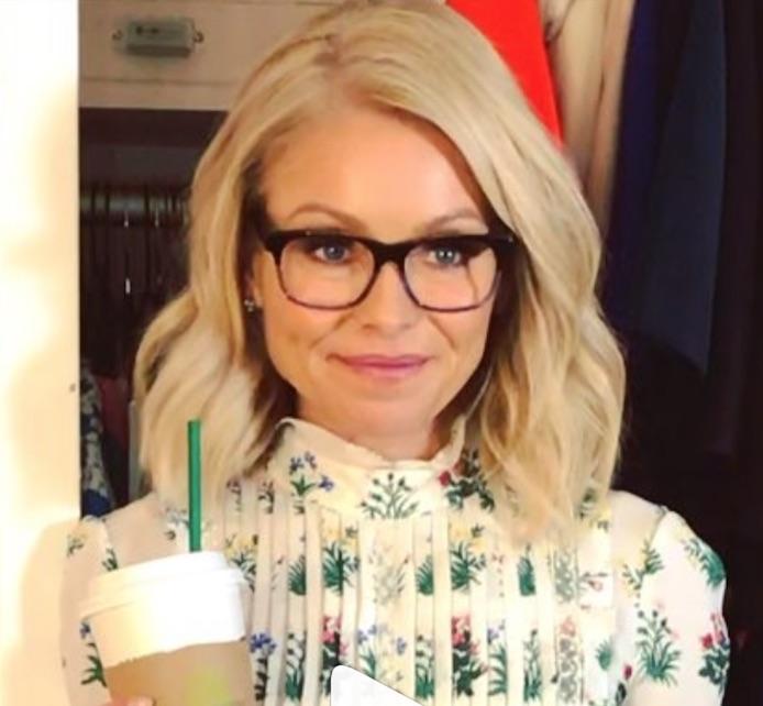 Kelly Ripa's Dark Framed Glasses
