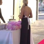 Stassi Schroeder's Black Jumpsuit with White Tie Back