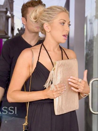 Stassi Schroeder's Black Braided Strap Jumpsuit