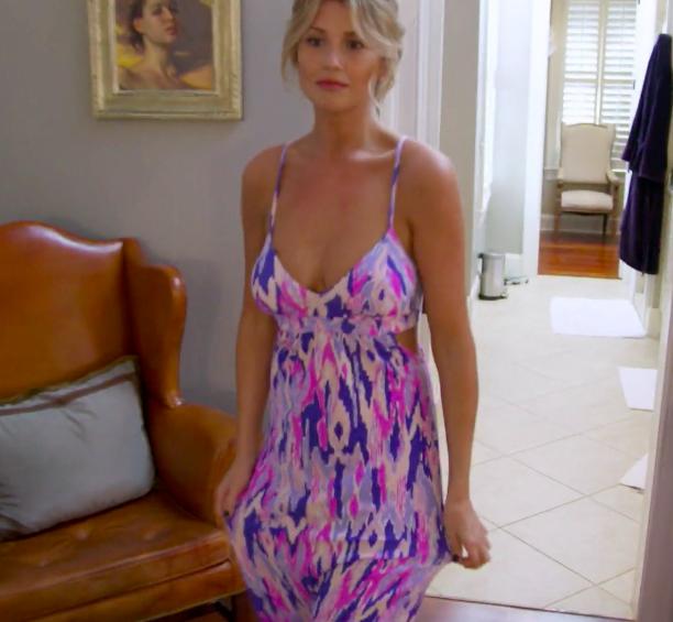 Ashley Jacobs' Printed Maxi Dress