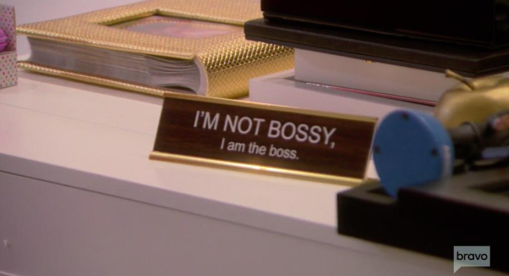 Bethenny Frankel's Bossy Desk Nameplate in Her New Office