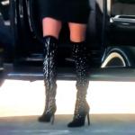 Dorit Kemsleys Pearl Embellished Over the Knee Boots