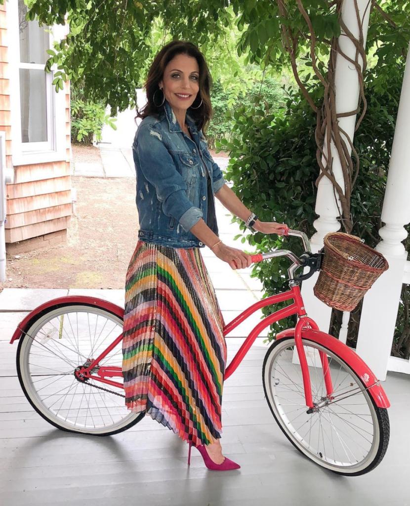 Bethenny Frankel's Rainbow Stripe Skirt