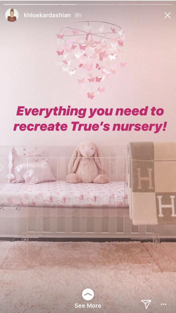 Khloe Kardashian S Clear Baby Crib In True Thompson Nursery