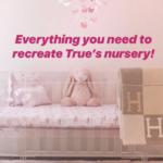 Khloe Kardashian's Grey Hermes Throw in True Thompson's Nursery