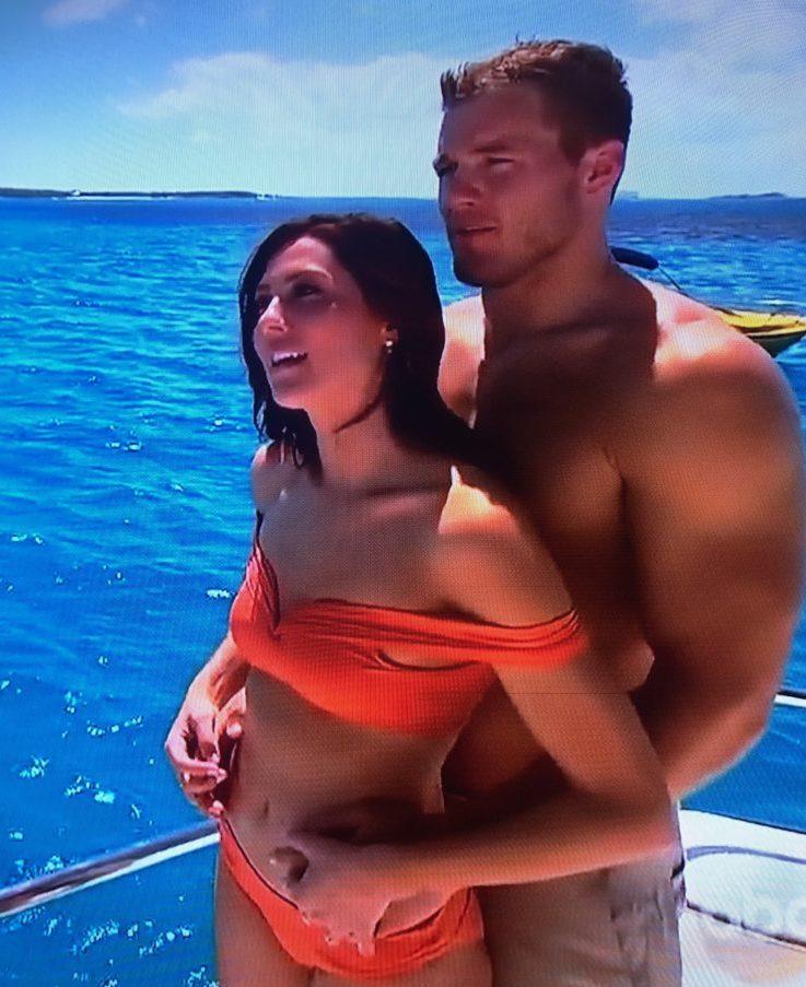 Becca Kufrin's Orange Bikini in the Bahamas
