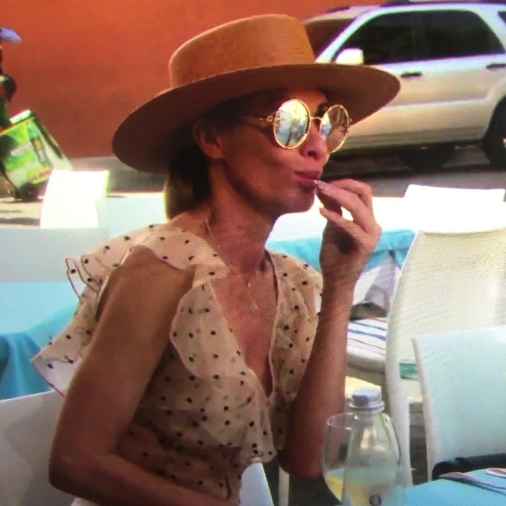 Carole Radziwill's Gold Claw Sunglasses