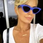 Caroline Stanbury's Blue Sunglasses on Instagram