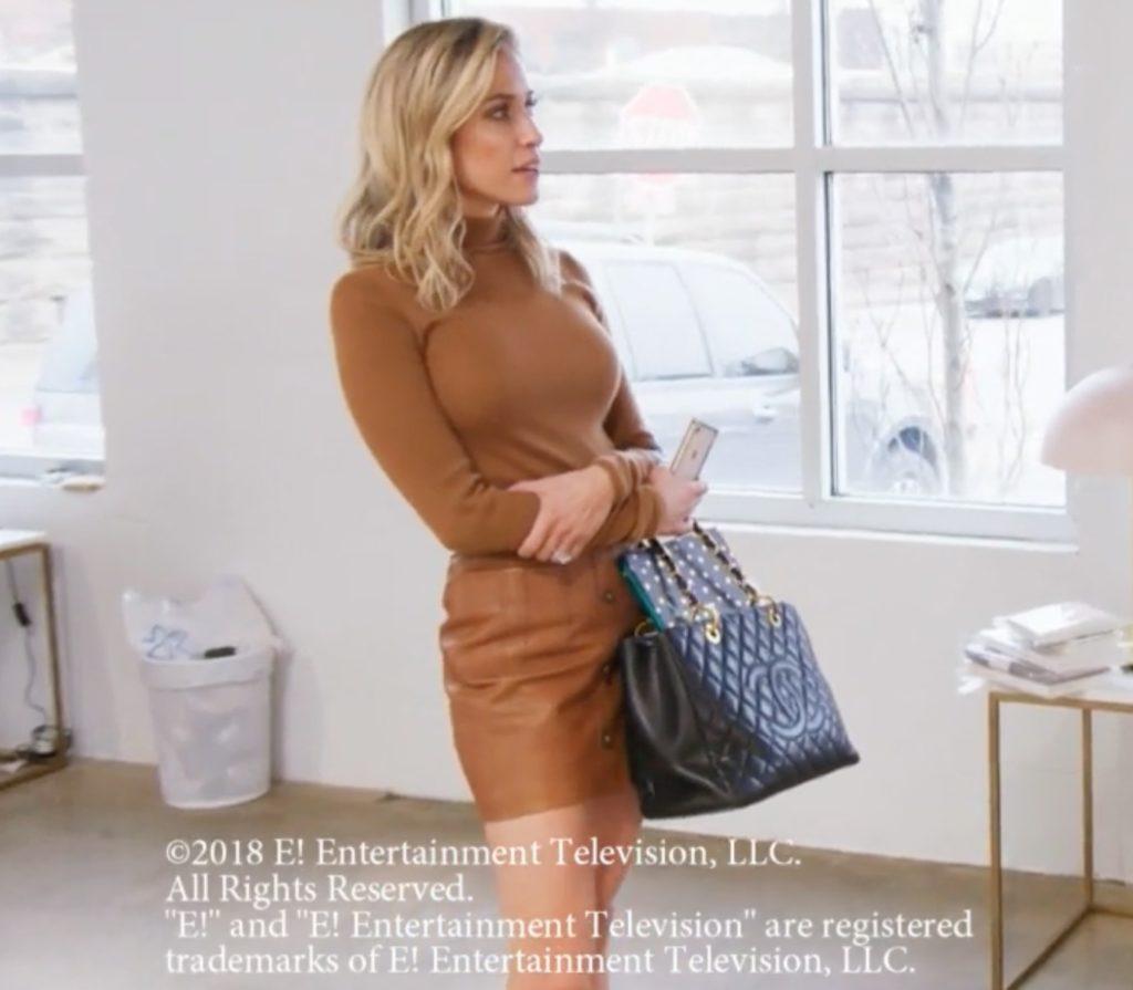 Kristin Cavallari's Leather Mini Skirt