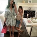 Kyle Richards' Striped Dress on Instastories