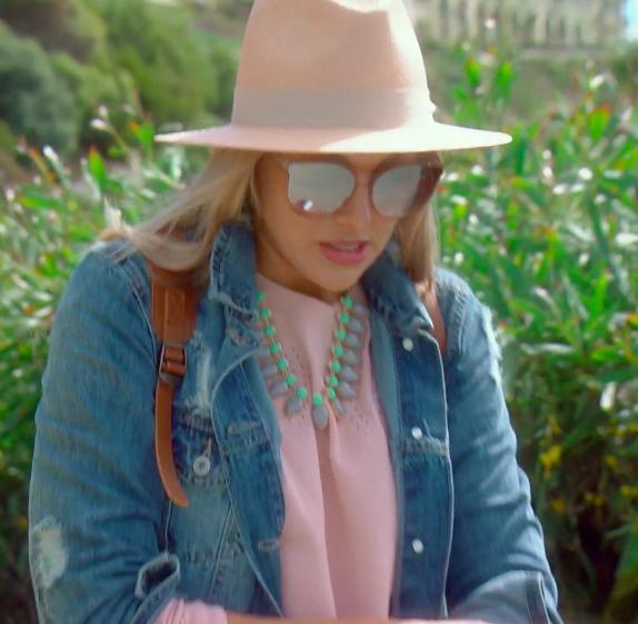 Gina Kirschenheiter's Pink Fedora Hat