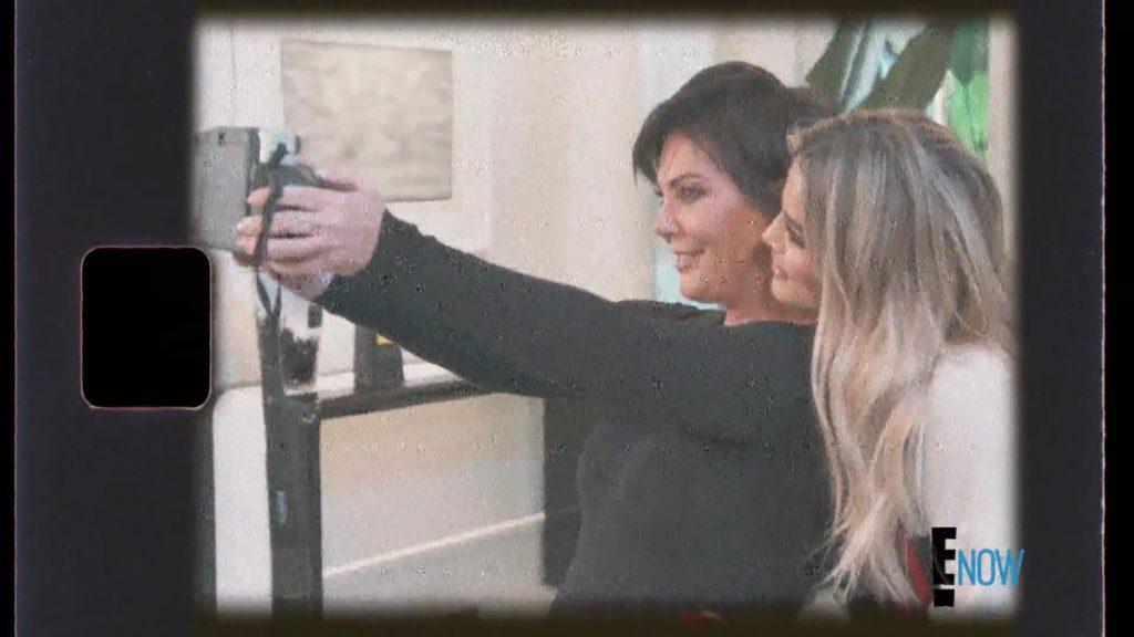 Kris Jenner's Black Instant Film Camera Taking Selfie with Khloe Kardashian
