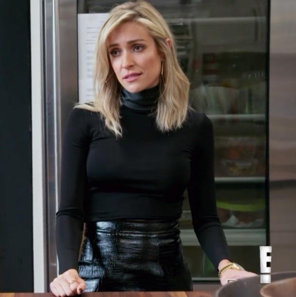 Kristin Cavallari's Black Mini Skirt
