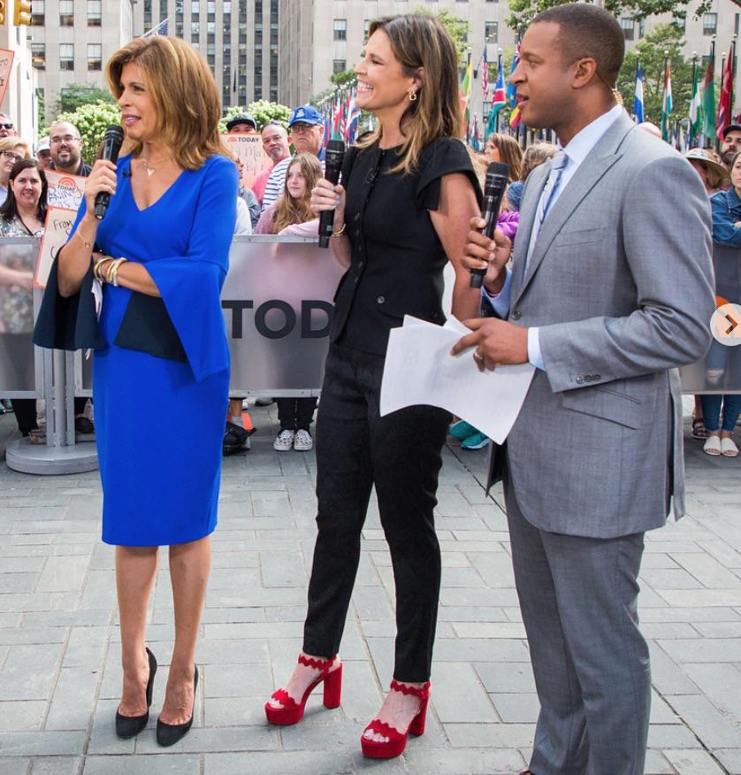 Savannah Guthrie's Red Platform Shoes