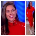 Abby Huntsman's Red Asymmetrical Dress