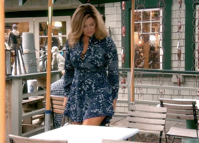Emily Simpson's Blue Printed Dress
