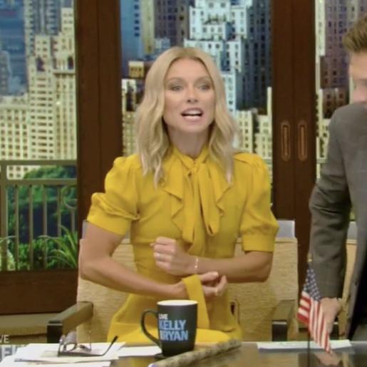 Kelly Ripa's Yellow Dress