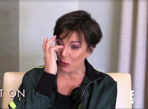 Kris Jenner's Track Jacket Talking to Kourtney