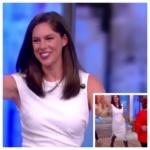 Abby Huntsman's White Asymmetrical Dress