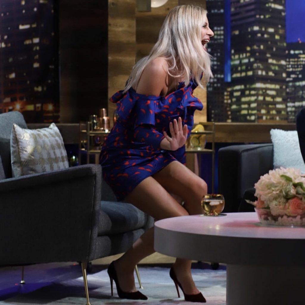 Morgan Stewart's Ruffle Dress on Nightly Pop