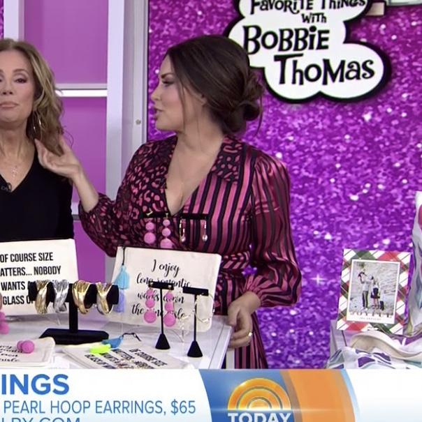Bobbie Thomas' Pink Wrap Dress