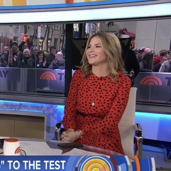 Jenna Bush Hager's Orange Polka Dot Dress