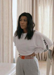 Kourtney Kardashian's Grey Sweatpants While Skyping