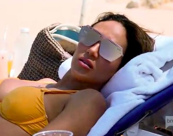 Melissa Gorga's Gold Mirrored Sunglasses