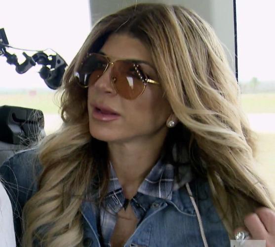 Teresa Giudice's Crystal Studded Aviator Sunglasses