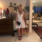 Tinsley Mortimer's White Polka Dot Dress
