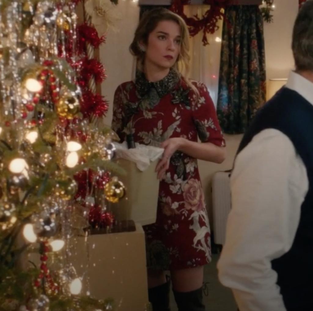 Alexis Rose's Beaded Collar Dress