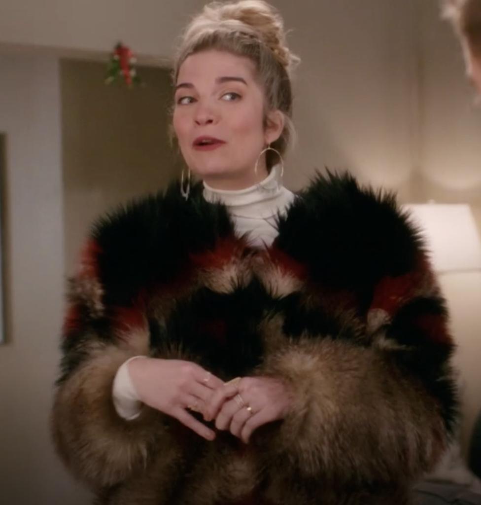 Alexis Rose's Faux Fur Coat