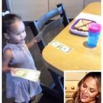 Chrissy Teigen's Gray Toddler Chair On Instagram Stories