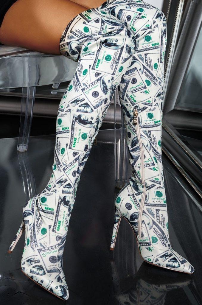 Dollar Bill Boots Azalea Wang